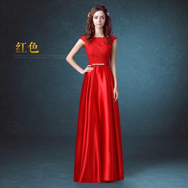 La longitud del piso de largo Vestidos de Baile Rojo Rosa Azul Negro ...