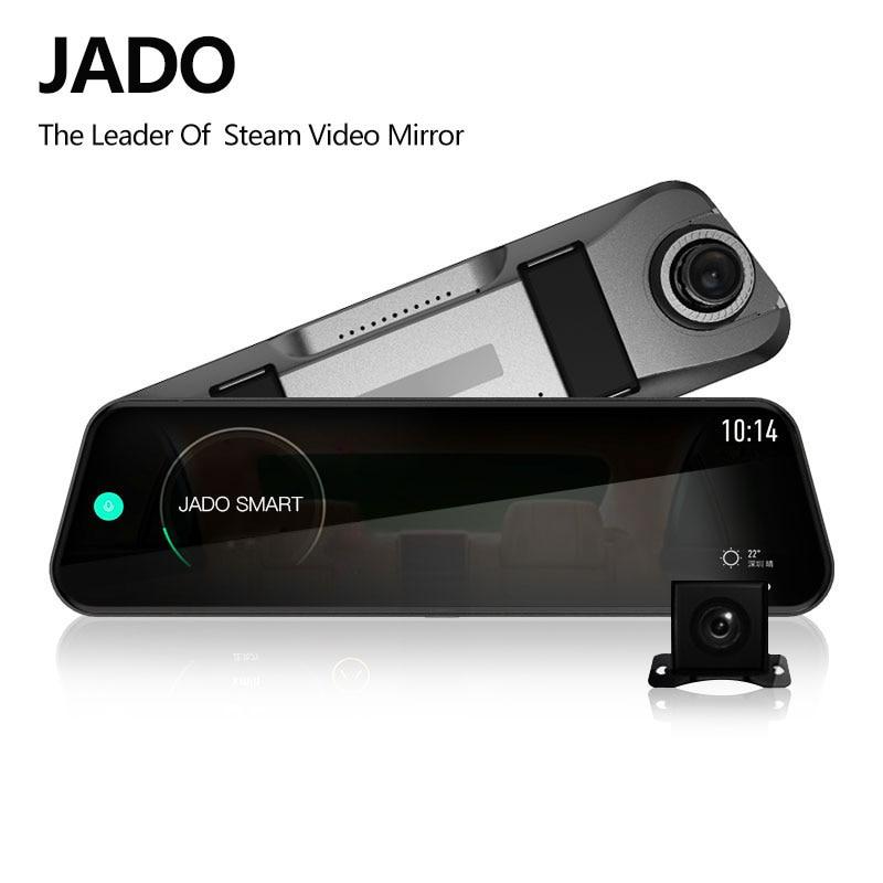 JADO D820s Car Dvr Stream RearView Mirror dash Camera avtoregistrator 10 IPS Touch Screen Full HD