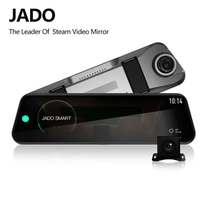 JADO D820s Car Dvr Stream RearView Mirror dash Camera avtoregistrator 10 IPS Touch Screen Full HD 1080P Car Recorder dash cam samsung