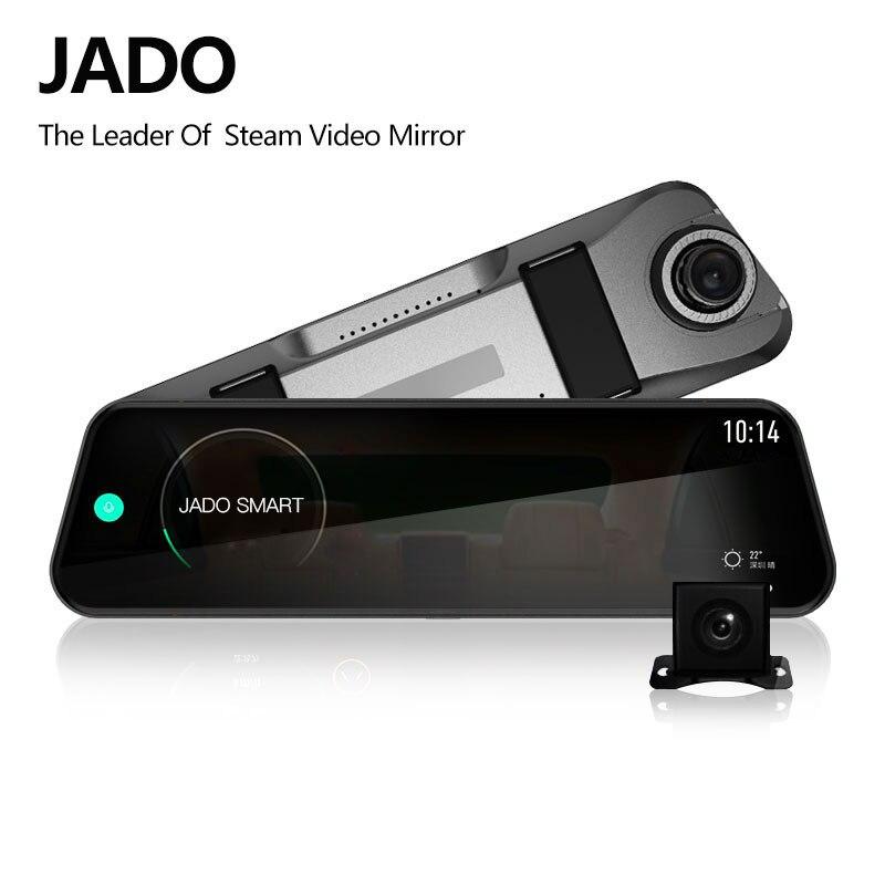 JADO D820s voiture Dvr flux rétroviseur caméra tableau de bord avtoregistrateur 10 IPS écran tactile Full HD 1080 P voiture enregistreur caméra de bord