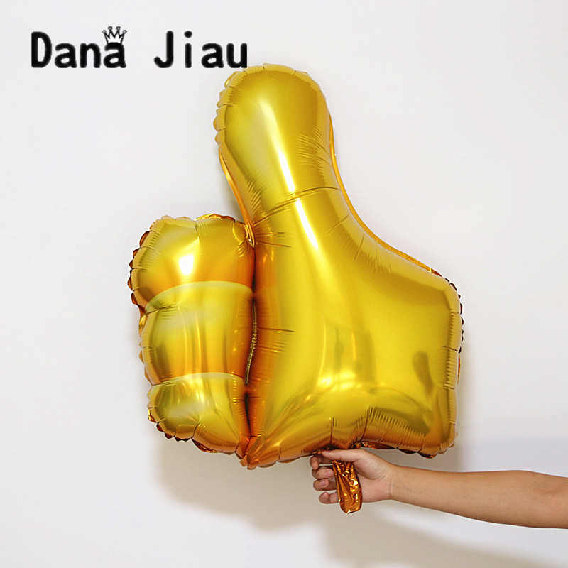 DANA JIAU 82*72cm big gold finger balloon happy Birthday Party decoration school graduation kids encourage Mother's Day gift