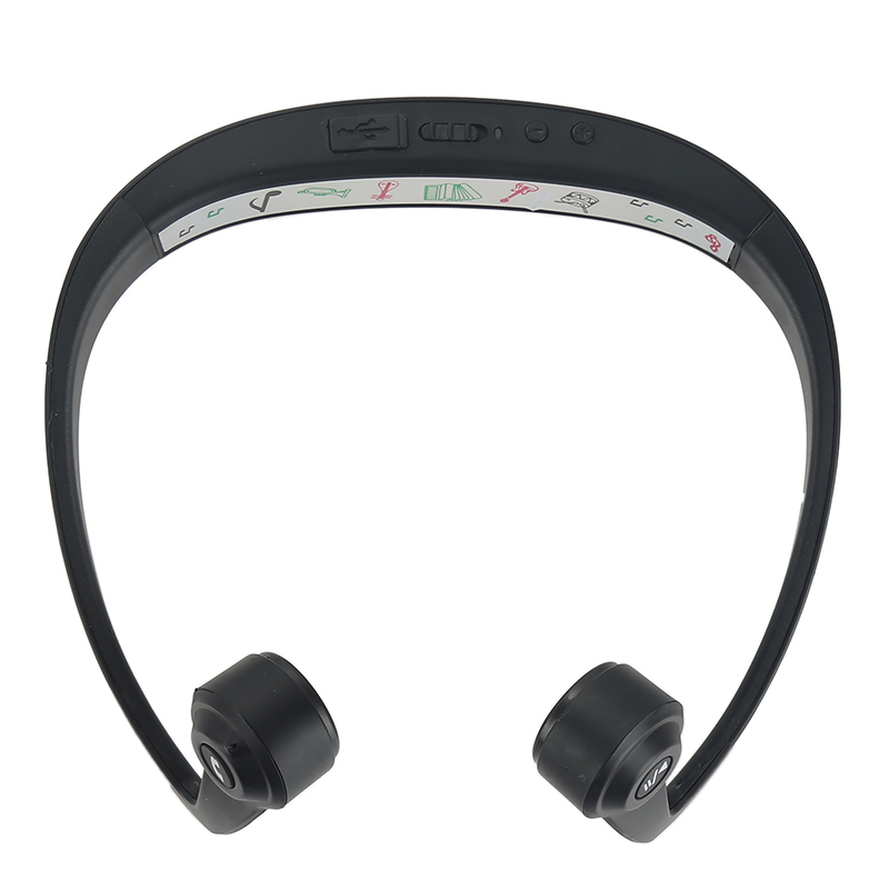 V9 Ear Hook Bone Conduction Bluetooth 4.2 Sports Headphone Headset With Mic Adjustable headband For Android IOS Smartphone bluetooth 4 1 bone conduction sports waterproof headset wireless ear hook headphone w mic white