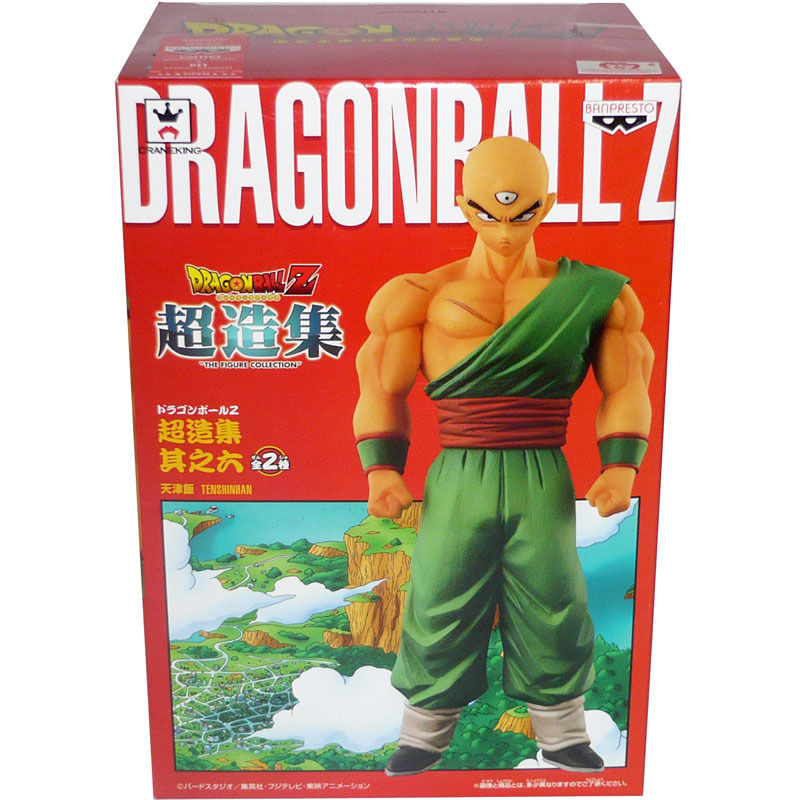 Japanese Anime DRAGONBALL Dragon Ball Z Original BANPRESTO Chozousyu Collection Figure Vol.6 - Tenshinhan original banpresto world collectable figure wcf the historical characters vol 3 full set of 6 pieces from dragon ball z
