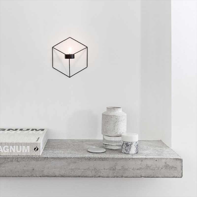 21 см подсвечники в скандинавском стиле 3D геометрический подсвечник металлический настенный подсвечник бра соответствующие маленькие подсвечники украшения для дома