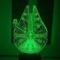 Star Wars BB8 droid 3D Bulbing Свет игрушки 2016 Новый 7 цвет изменение зрительных иллюзий СВЕТОДИОДНАЯ лампа Дарт Вейдер Тысячелетний Сокол игрушка