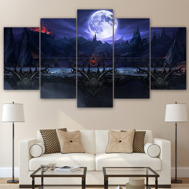 5 Panel Canvas Art Modern Abstract Print Mortal Kombat Unframed Pictures  Canvas Wall Art Painting Paintings