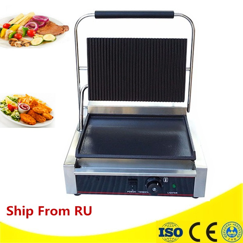 Electric Griddle Flat Pan Contact Grill Machine 3000W Commercial Hand Grasping Cake Machine Stainless steel Grilled Squid stainless steel electric grill griddle teppanyaki griddle dorayaki grill machine with double temperature controllers
