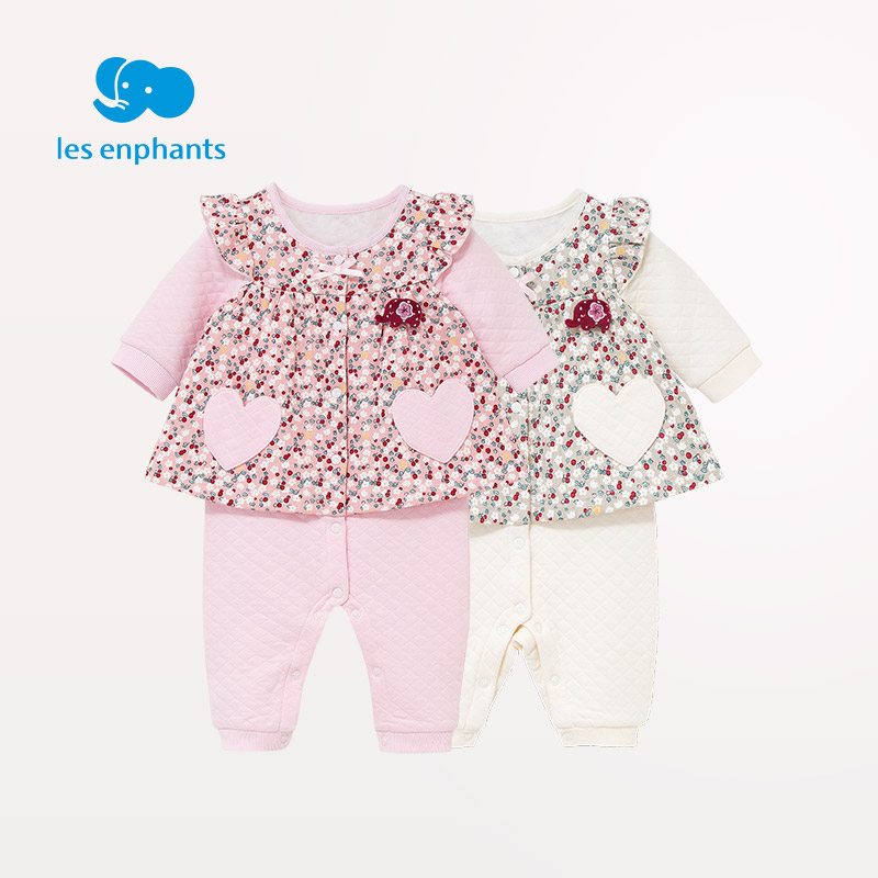 les enphants Babies Newborn Baby Clothes Girl Rompers O Neck Jumpsuit Winter Overalls for Kids Roupa Menina baby rompers o neck 100