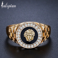 Iutopian Brand Lion King Amazing Man Made Ring Anels For Men European Hero Style Rose Gold Plated Us Size 7 to 12 #PB0001