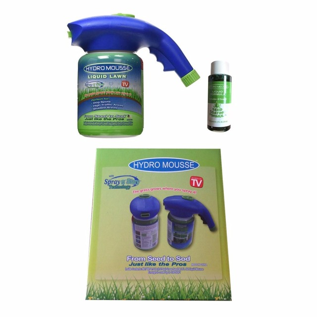Hydro Mousse Spray Gun Liquid Lawn Seed Sprinkler Plastic Watering Can Quick And Easy Spray Pot Antiperspirant dropshipping