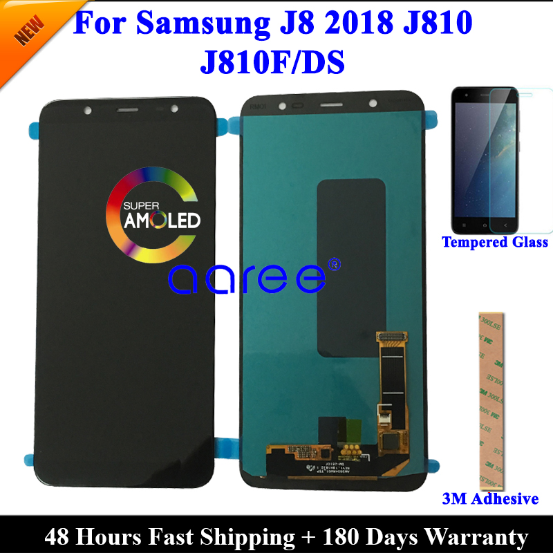 100 AMOLED OLED LCD Screen For Samsung J8 2018 LCD J810 LCD For Samsung J8 2018