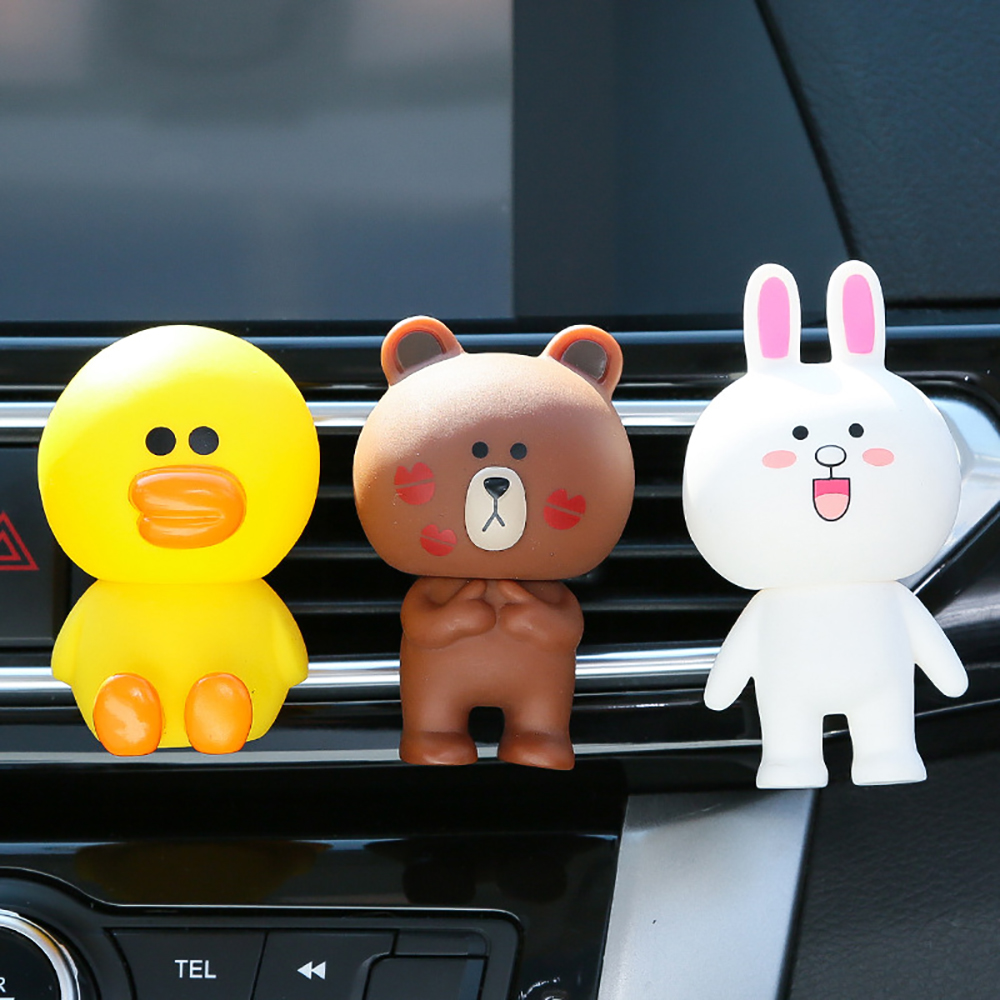 Car Ornament Cute Doll Decoration Air Freshener Home Automobiles Interior Perfume Fragrance Aroma Flavor Clip Accessories Gift