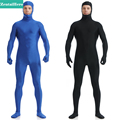 ZentaiHero NEW Second Skin Tight Suits Lycra Zentai Suit Blue Open Face Spandex Unitard Mens Cosplay Full Body Bodysuits UC11907