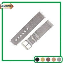 Pulseira de Aço Inoxidável Watch Band para Rado Milanese 20mm 22mm Tira de Metal Cinto Alça De Pulso Pulseira Das Mulheres Dos Homens preto Prata