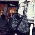 Women Designer Bag Vintage Shoulder Bag Plaid Pattern Handbag Leisure Simple Messenger Bag Black Famous Brands 40