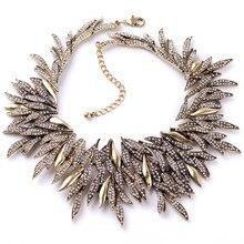 Nuevo Diseño De Lujo Exagerado Geometría de Múltiples Capas de la Hoja de Cristal de La Manera Collar Grande Para Las Mujeres de la Fábrica Al Por Mayor