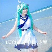 Vocaloid Hatsune Miku Vocaloid cos vestido de verano vestido de marinero estilo cosplay traje adulto animado ropa