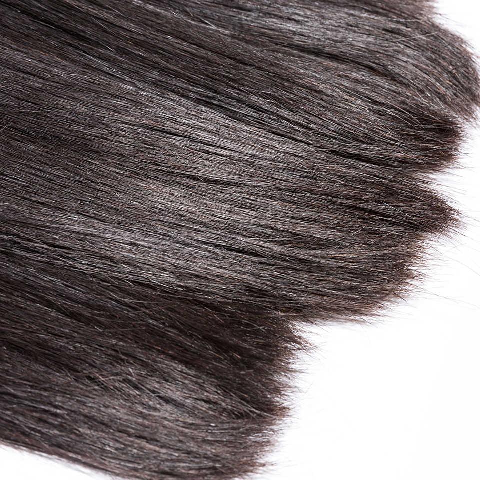 Hj Menenun Kecantikan 7A Rambut Perawan Rambut Brazilian Bundel Lurus 10 Pcs Banyak Manusia Bundel Rambut Warna Alami Gratis Pengiriman