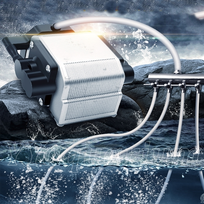 Сверхмощный аквариумный воздушный компрессор, бесшумный аквариумный воздушный насос с сильным потоком, регулируемый для пруда, морского б...
