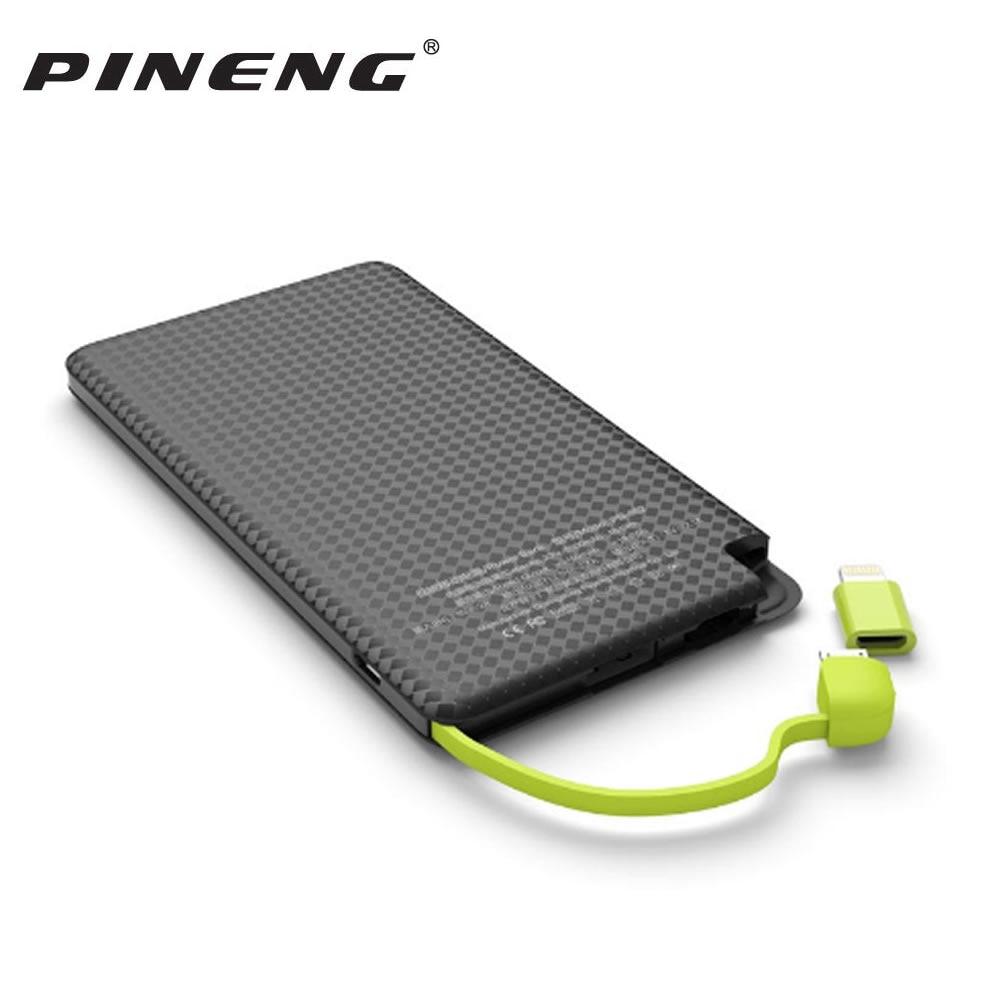 Pineng 5000 mah Puissance Banque PN 952 Mobile Banque puissance Portable Batterie Pack Shake & Commencer Li-Polymère Capacité indicateur Pour iPhoneX/8