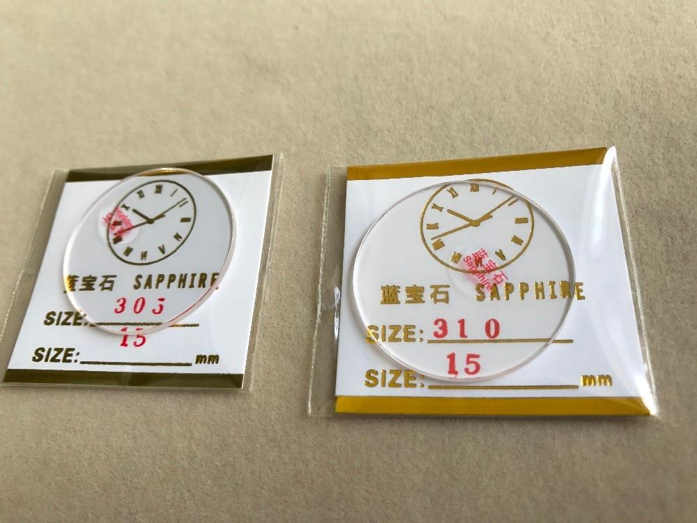 Grosso de 30.532.5mm Flat Round Sapphire Vidro Relógio Replacment 1.5mm 2x
