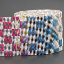 10Yards Rhinestone Mesh Trimming Colorful 24 Rows 32 Plastic Trim Sewing Ribbon For Garment Accessorie DIY Craft