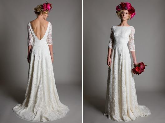 A Line Wedding Gown With Sleeves: A Line Bohemian Wedding Dresses Vestidos Noivas Backless