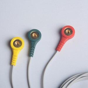 Image 3 - Câble en fil délectrode pour moniteur Ecg de cœur Portable, Prince 180B et PC 80B