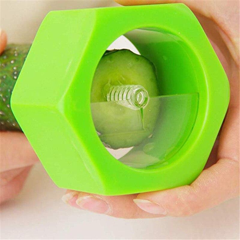 Creative Multi-Purpose Vegetable Cutter Screw Cucumber Slicer Plastic Peeler Fruit Spiralizer Salad Cutter Fruits Tool