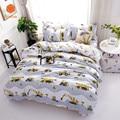 Набор постельного белья с рисунком экскаватора  мягкое одеяло  постельное белье  наволочка с принтом  полиэстер  пододеяльник  набор  полный...