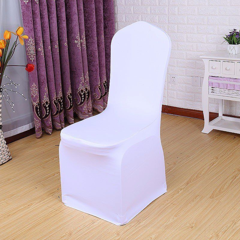 20X Wedding Chair Covers White Stretch Universal Polyester Spandex Chair Cover for Weddings Banquet Restaurant Seat (6)