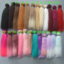 1 3 1 4 1 6 OB SD BJD small curly doll wigs handmade cloth doll