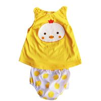 2017 2PC Toddler Baby Summer Clothing Baby Girls Boys Cartoon Pattern Rompers Infant Jumpsuits Tops + Shorts