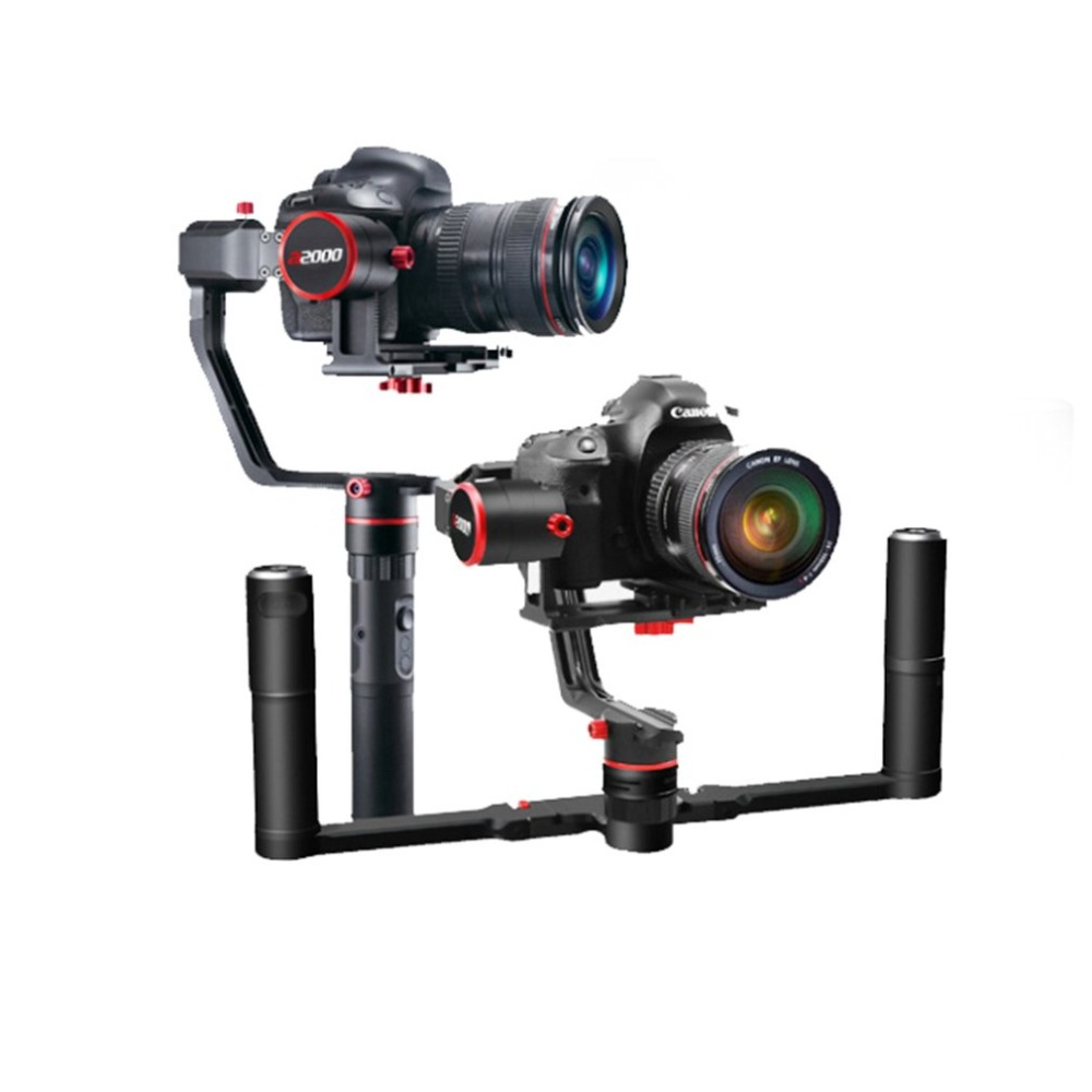 FeiyuTech A2000 3-Axis Gimbal Selfie DSLR Camera Dual Handheld Stabilizer for Canon 5D SONY SONY Panasonic RC Model Toy Accs feiyu a2000 3 axis gimbal steadicam dslr camera dual handheld stabilizer for grip voor canon 5d sony panasonic 2000g