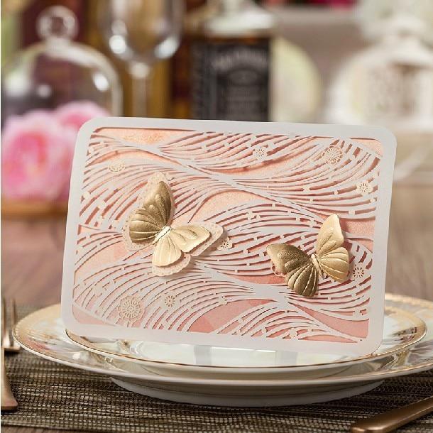 Aliexpress Buy Invitaciones De Boda 2015 Autumn Elegant – Elegant Butterfly Wedding Invitations