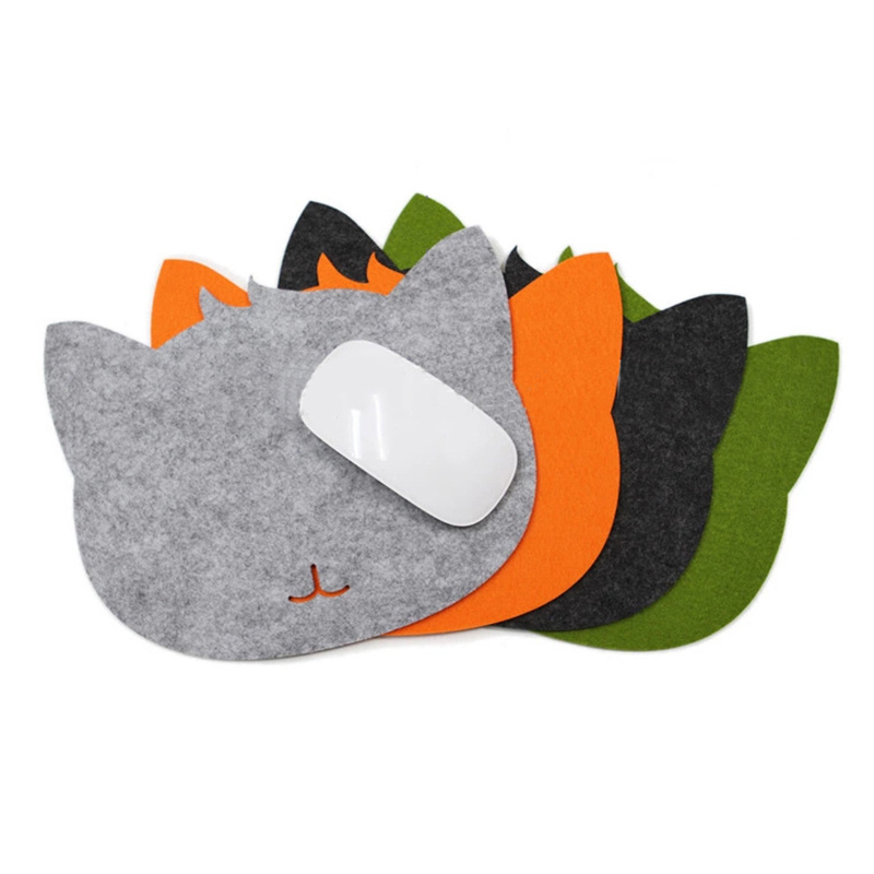 felt Cloth Universal Cute Cat Mouse Pad Mat for Laptop Computer Tablet PC  on AliExpress