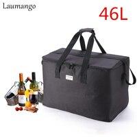 Laumango Extra Large capacity Cooler Bags Thermal Insulated Bento Box Water Food Fruit Storage picnic bag cooler bolsa termica