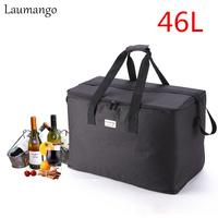 Laumango Extra Large capacity Cooler Bags Thermal Insulated Bento Box Water Food Fruit Storage picnic bag cooler bolsa termica