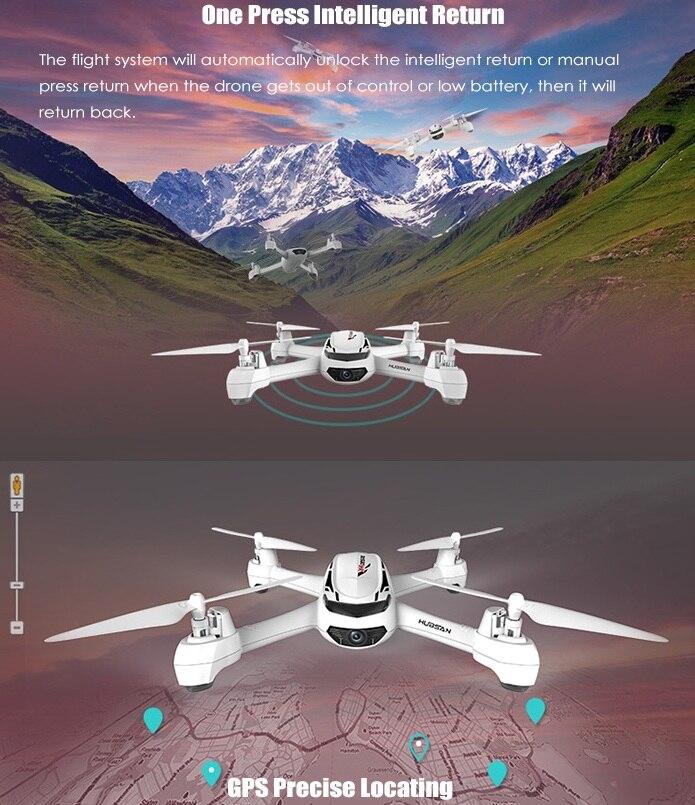 Hubsan X4 H502S RC Drone 5.8G FPV GPS Mode d'altitude RC quadrirotor 720 P HD caméra un retour de clé avec télécommande intelligente - 2