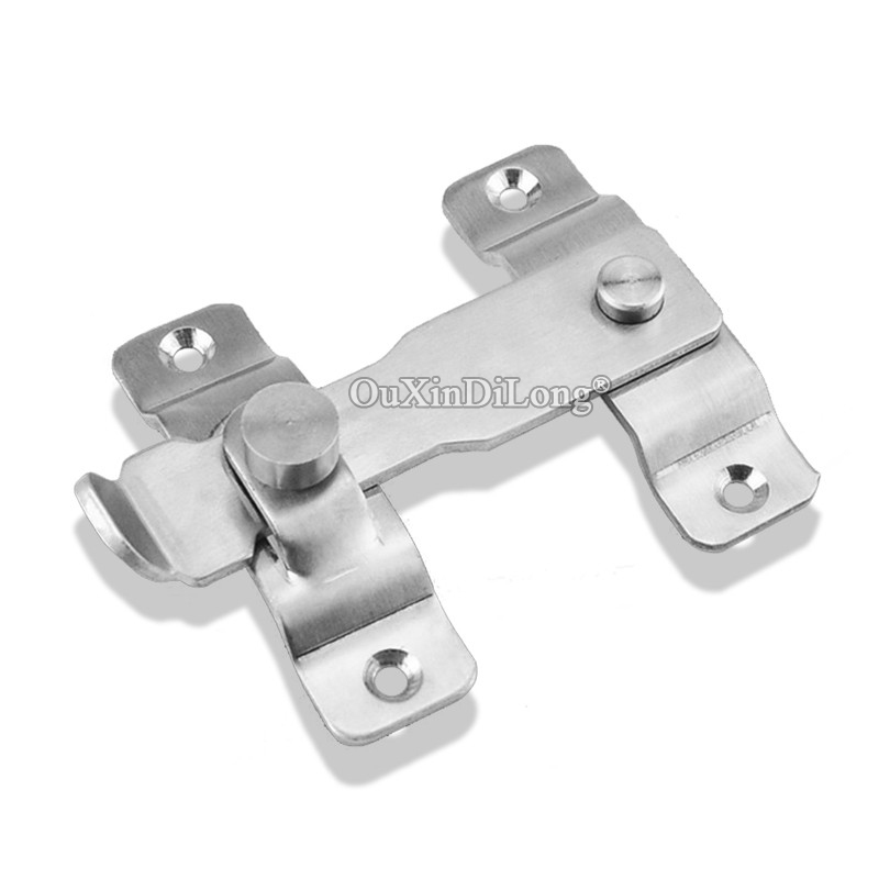 BRAND NEW 4PCS Stainless Steel Hasp Latch Lock Sliding Door and Window Cabinet Catch Locks For Home Hotel Door Security Hardware