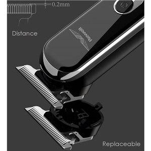 Image 3 - <חכם מגע + בקרת מהירות> מקצועי חשמלי קליפר שיער גוזם זקן גילוח שיער מכונת חיתוך עבור גברים בארבר תספורת