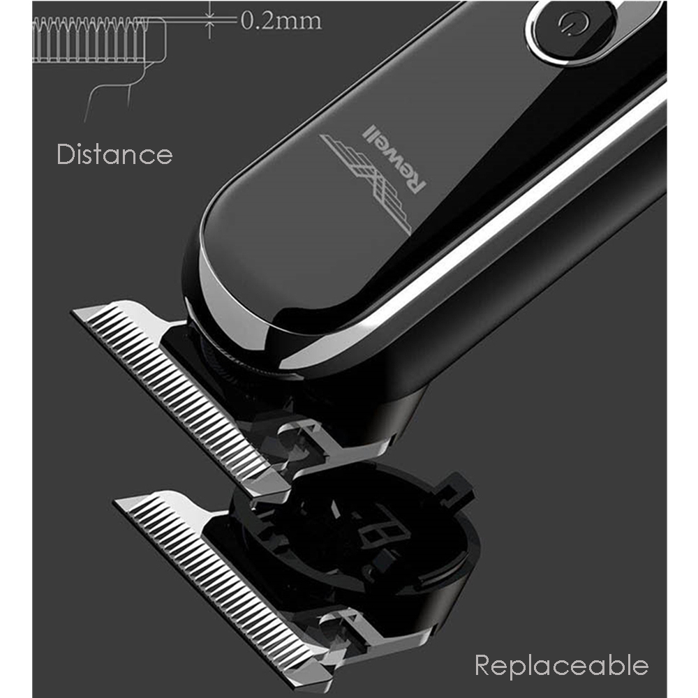 Image 3 - <Smart Touch+Speed Control> Professional Electric Clipper Hair Trimmer Beard Shaving Hair Cutting Machine for Men Barber Haircut-in Hair Trimmers from Home Appliances