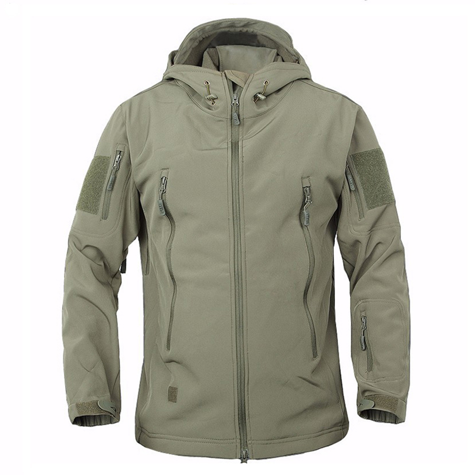 Outdoor Military Tactical Jacket font b Men b font Shark Skin Softshell Jacket Waterproof Windproof Hiking