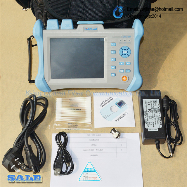 Бесплатная доставка Последние KING-96 интеллектуальные точность оптического время рефлектометр 0-120 КМ РЕФЛЕКТОМЕТРА OTDR тест точность приборов