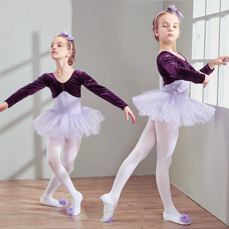 <<<<En puntas y a volar>>>> - Página 18 Autumn-and-Winter-Children-s-Dance-Clothing-Long-Sleeved-Practice-Uniforms-Children-S-Ballet-Skirt-Gymnastics
