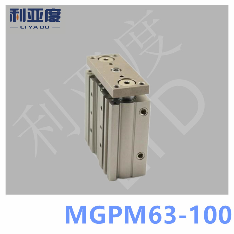 SMC Type MGPM63-100 Thin cylinder with rod MGPM 63-100 Three axis three bar MGPM63*100 Pneumatic components MGPM63X100 tu0425bu 100 tu0604bu 100 tu0805bu 100 tu1065bu 100 tu1208bu 100 smc pneumatic blue air hose hose length 100m