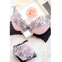 Embroidery Sweet Sexy Deep V Neck Adjustable Push Up Lace To Collect The Furu Young Girl