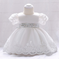 Retail Baby Girl Summer Dress With Sequined Belt Cute Girls Lace Party Dresses Toddlers Vestidos Infantil