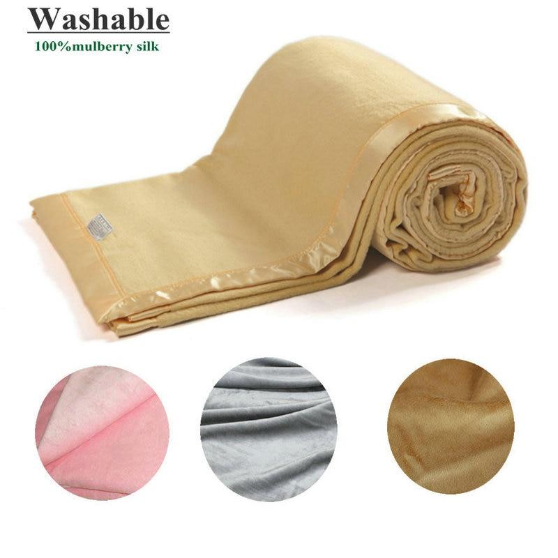 все цены на 2016 New Silk Blanket 100% Grade A Pure Mulberry Silk Velvet Free shipping