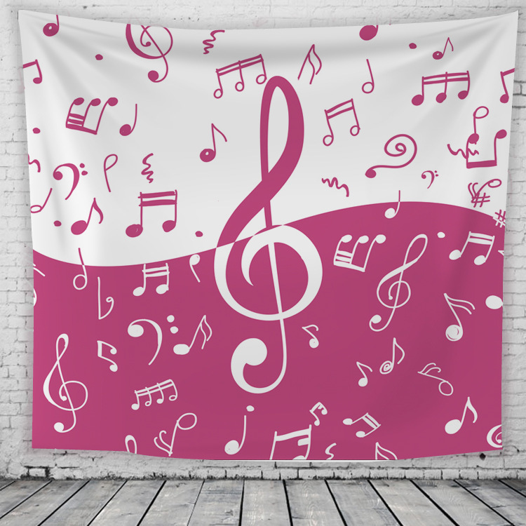 Piano Notes Musical Instruments Wall Tapestry Bedroom Living Room ...